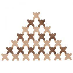 Houten xmanis stapelpoppetjes, Goki nature 58717