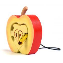 Houten appel met worm, Bumbu toys 1656