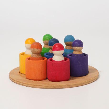 7 Regenboog vrienden in bakjes, Grimms 10580