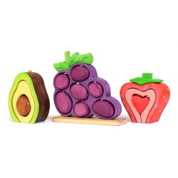 Bumbu toys avocado, druiven en aardbei set (3 stuks)