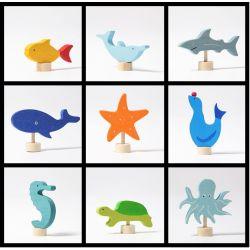 Grimms waterdieren figuren pakket (9 stuks)