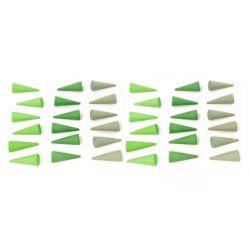 Houten mandala kegels groen, Grapat 18-200