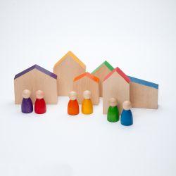 Houten huisjes en nins, Grapat 15-110
