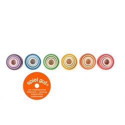 Houten stapelbakjes gekleurd, Grapat 20-215