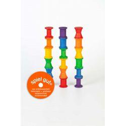 Set van 18 houten regenboog rolletjes, Grapat 15-103