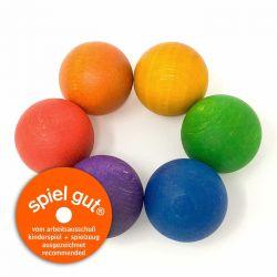 Regenboog ballen (6 stuks), Grapat 16-126