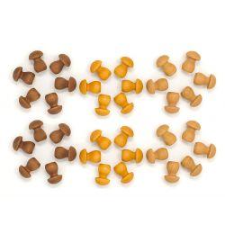 Houten mandala paddenstoelen, Grapat 18-202