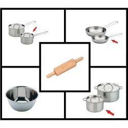 Gluckskafer edelstaal keukenset klein (5-delig)