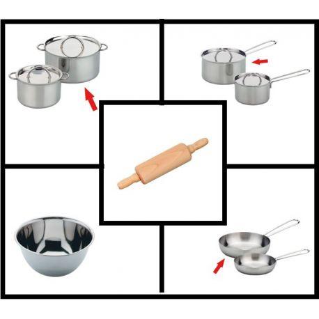 Gluckskafer edelstaal keukenset groot (5-delig)