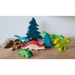Holztiger dino wereld (8 stuks)