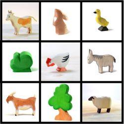 Bumbu toys kinderboerderij set (9-delig)