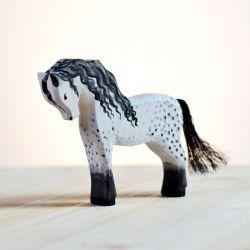 Houten sneeuwkoningin set met slee en paard, Bumbu toys 2030