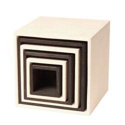 Zwart witte kistenset groot, Grimms 93040