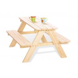 Houten picknicktafel Nicki naturel, Pinolino 201016