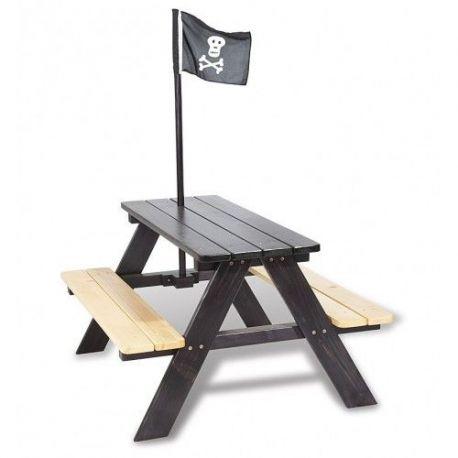 Houten picknicktafel piraat