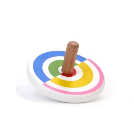 Houtel tol gekleurde halve cirkels, Bajo 36620