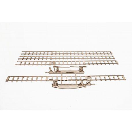 Spoorwegovergang + rails (4m), Ugears 70014