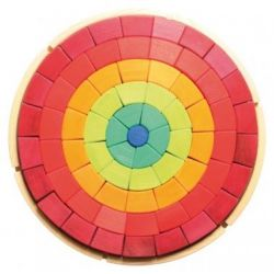 Regenboog blokken bouwpakket, Grimms 10155