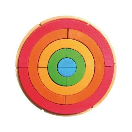 Regenboog cirkel bouwpakket, Grimms 10206