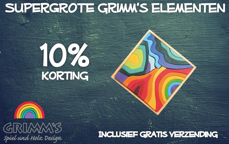 10% Korting op de grote elementen van Grimm's